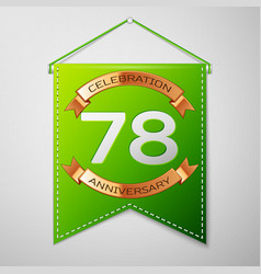 Seventy eight years anniversary celebration design vector