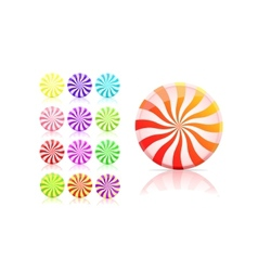 striped candy icon set lollipop vector image