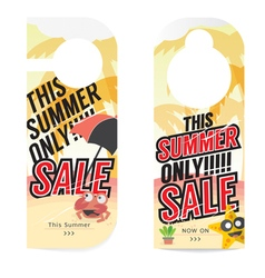 Summer Sale Tag Template vector image vector image