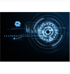technological abstract grid business interface vector image vector image