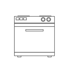 Stove house technology appliance icon vector