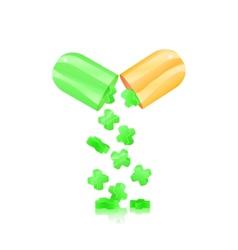 open pill capsule vector image