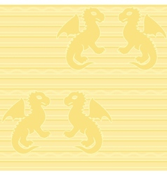 Baby dragon seamless pattern vector