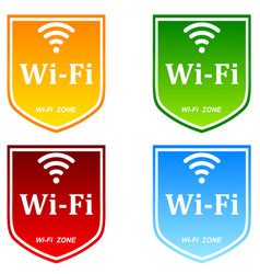 Free wifi zone vector