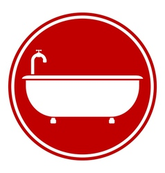 Bathtub button vector