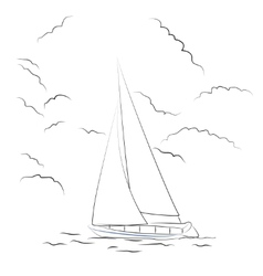 Boat sketch vector