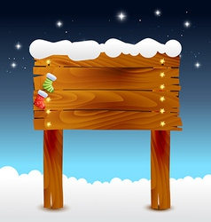 Christmas of wood background vector