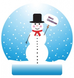 snowman graphic vector image
