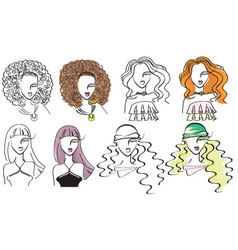 fashion portraits vector image