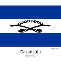 National flag of gazankulu with correct vector