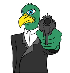 bird gangster vector image