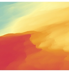 Abstract desert landscape background vector
