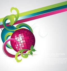 Abstract discoball party vector
