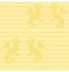 Baby dragon seamless pattern vector image vector image