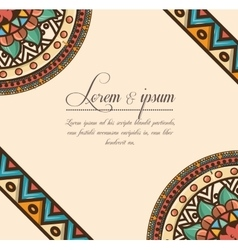 Bohemian background design vector
