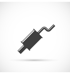 Car muffler icon vector image