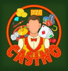 Casino games concept cartoon style vector