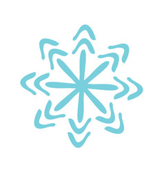 christmas snowflake icon vector image