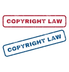 Copyright law rubber stamps vector