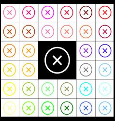 cross sign felt-pen 33 vector image vector image