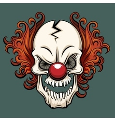 evil clown vector image