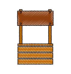 farm fount isolated icon vector image