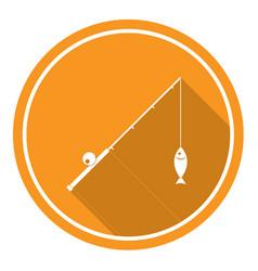fishing rod icon vector image vector image