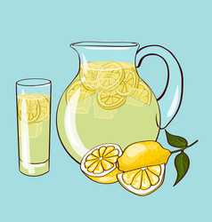 flat lemonade composition vector image vector image