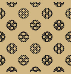 golden seamless pattern in oriental style vector image vector image