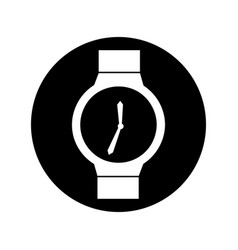 Hand watch isolated icon vector