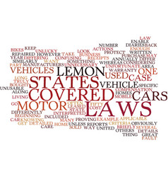 Lemon laws differ text background word cloud vector