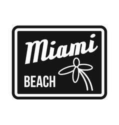 Miami beach icon simple style vector