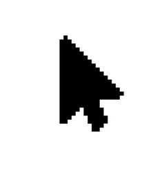 Modern arrow cursor icon on white vector
