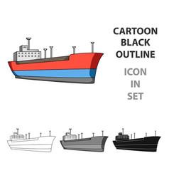 Oil shipoil single icon in cartoon style vector