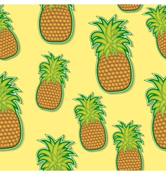 Pineapple sticker pattern vector