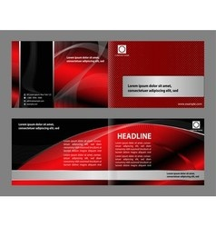 Professional business corporate brochure or cover vector