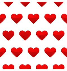 Red hearts seamless pattern white background vector