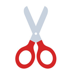 scissors tool isolated icon vector image