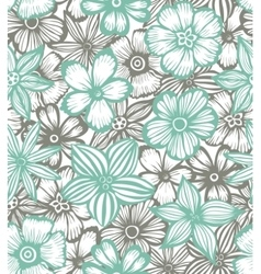 seamless background with graphic flowers vector image