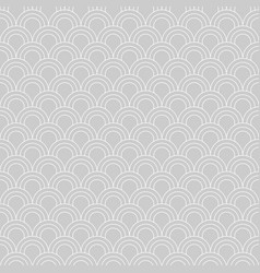 seamless pattern moroccan style fish scale vector image vector image