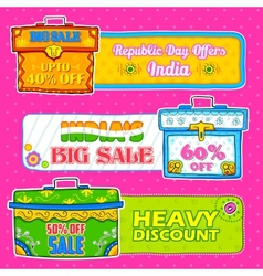 trunk box showing Indian kitsch art for sale and vector image vector image