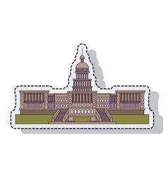 Usa capitol building isolated vector