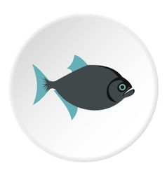 Vampire fish icon flat style vector