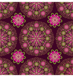 Vintage seamless dark purple pattern vector