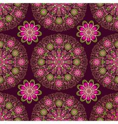 Vintage seamless dark purple pattern vector image vector image