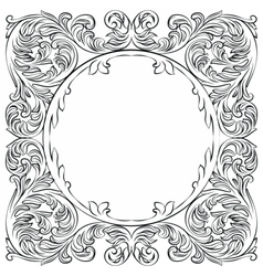 Vintage imperial baroque round frame vector