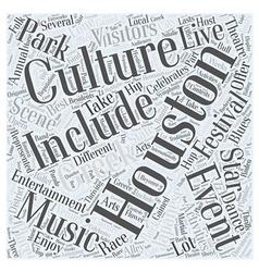 Houston entertainment word cloud concept vector