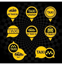 Taxi - emblems yellow vector