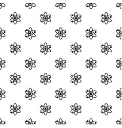 atom with electrons pattern vector image