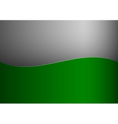 Background green stripe wave one grey vector